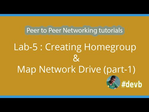 Lab-5 : Creating Homegroup & Map Network Drive (part-1)