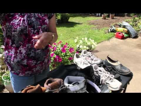 Scores of lost shoes found in Woodbridge, Virginia resident's front lawn