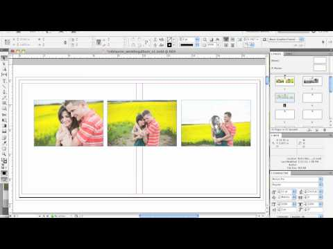 Album Design Using InDesign // Putting Photos on the Page   InDesign Tutorial for Begginers