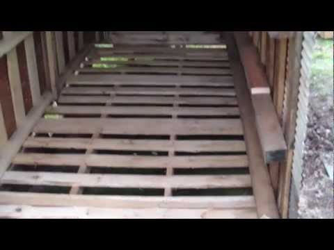 How to Build Free or Cheap Shed from Pallets DIY Garage Storage Pt 6