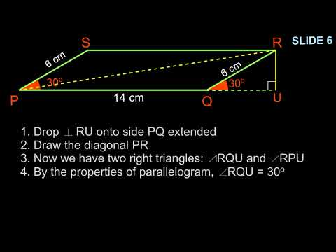 Trigonometry - Diagonals of a Parallelogram