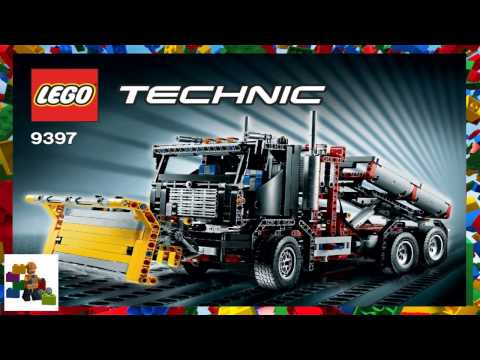 LEGO instructions - Technic - 9397 - Container Truck with Snowplow