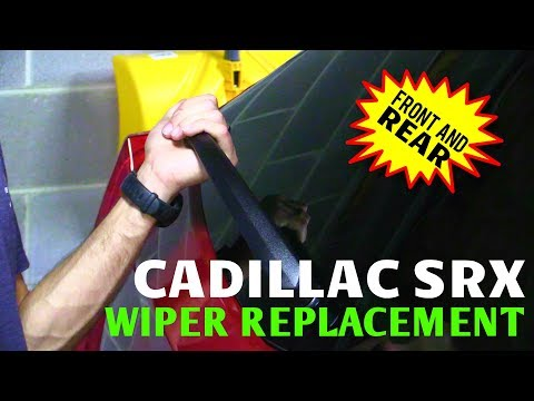 2010-2016 Cadillac SRX Front & Rear Wiper Blade Removal & Replacement (works on other GM models too)