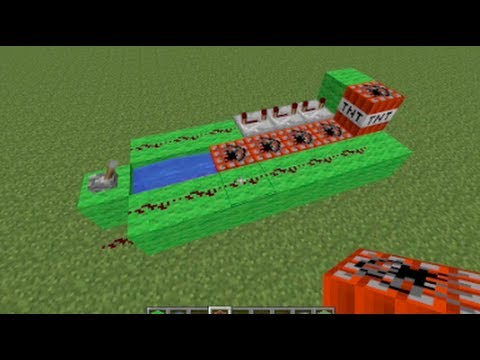 Minecraft - How to make a TNT Cannon - 5 Steps