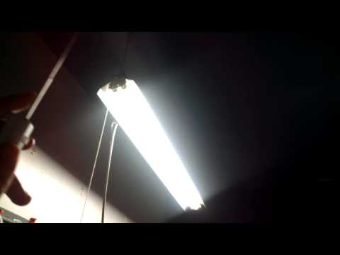 How to do a cheap n easy shop light install