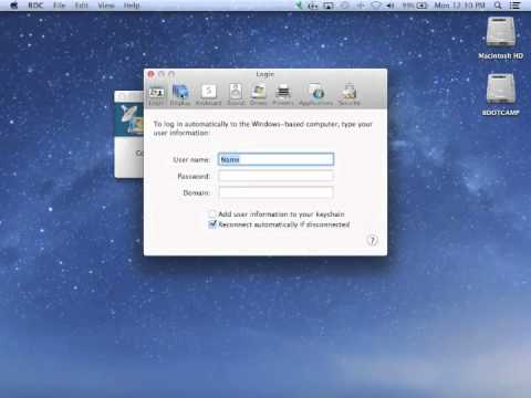 Change remote server resolution with RDC on Mac OSX - quick tutorial
