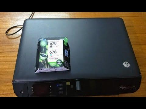HP DESKJET INK ADVANTAGE 3545 -HP 678 TRI COLOR CATRIDGE UNBOXING & INSTALLING/REPLACING