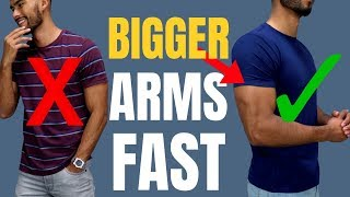 How To Make Your Arms Look More Muscular (Fill out ANY T-Shrit)