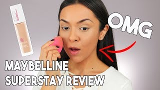 Maybelline SuperStay Foundation First Impression Review - TrinaDuhra