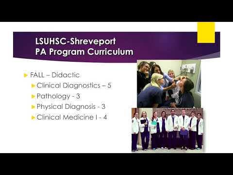 LSU Health Shreveport - Physician Assistant - Info Session