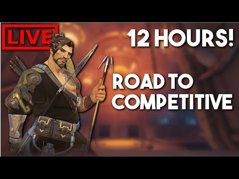 ROAD TO COMPETITIVE + 12 HOUR STREAM FAILED ATTEMPT | OVERWATCH PS4 GAMEPLAY