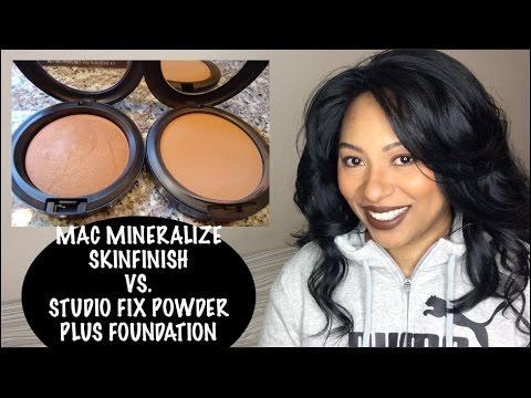 MAC Mineralize Skinfinish VS  MAC Studio Fix Powder plus Foundation | Coverage? | Finish? |Which One