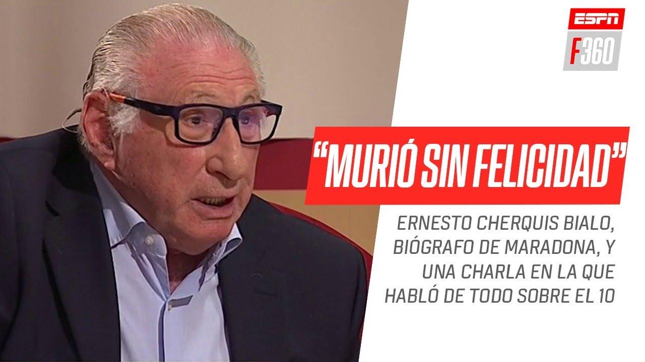 """Cherquis Bialo: """"#Maradona fue el único deportista que logró la categoría de Dios sin ateos"""""""