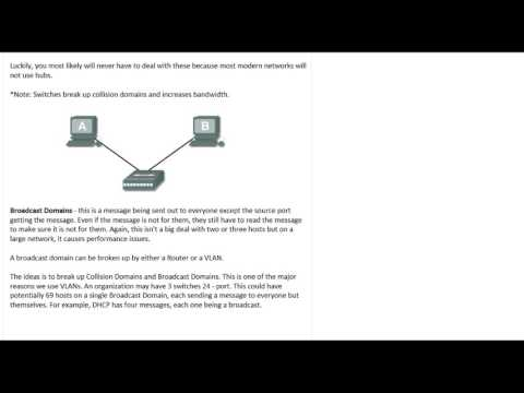CCNA: Collision Domains vs Broadcast Domains