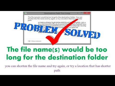 The file name(s) would be too long for the destination folder | Hindi