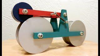 Self - running Bike. Perpetual motion machine