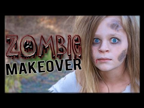 Cheap and Easy ZOMBIE Hair and Makeup Tutorial | Halloween Series