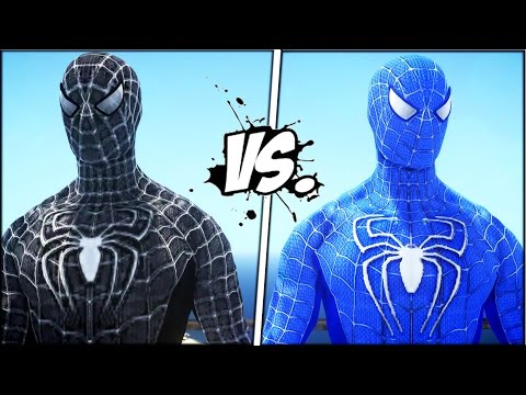 BLACK SPIDER-MAN VS THE AMAZING BLUE SPIDERMAN