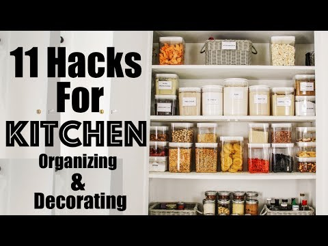 ORGANIZE: 11 HACKS to Decorating and Organizing a SMALL Kitchen | Making the Most of Our Small Space