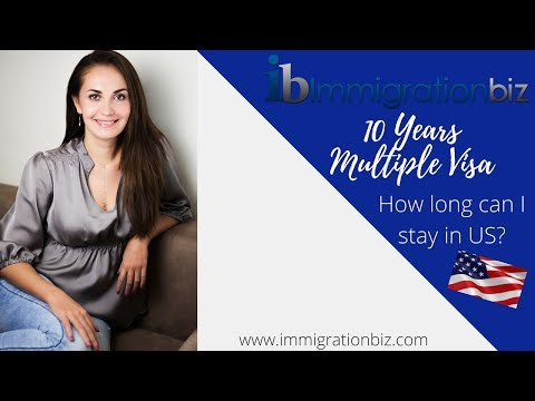 10 YEARS MULTIPLE ENTRY VISA FOR USA | B VISA TO THE USA