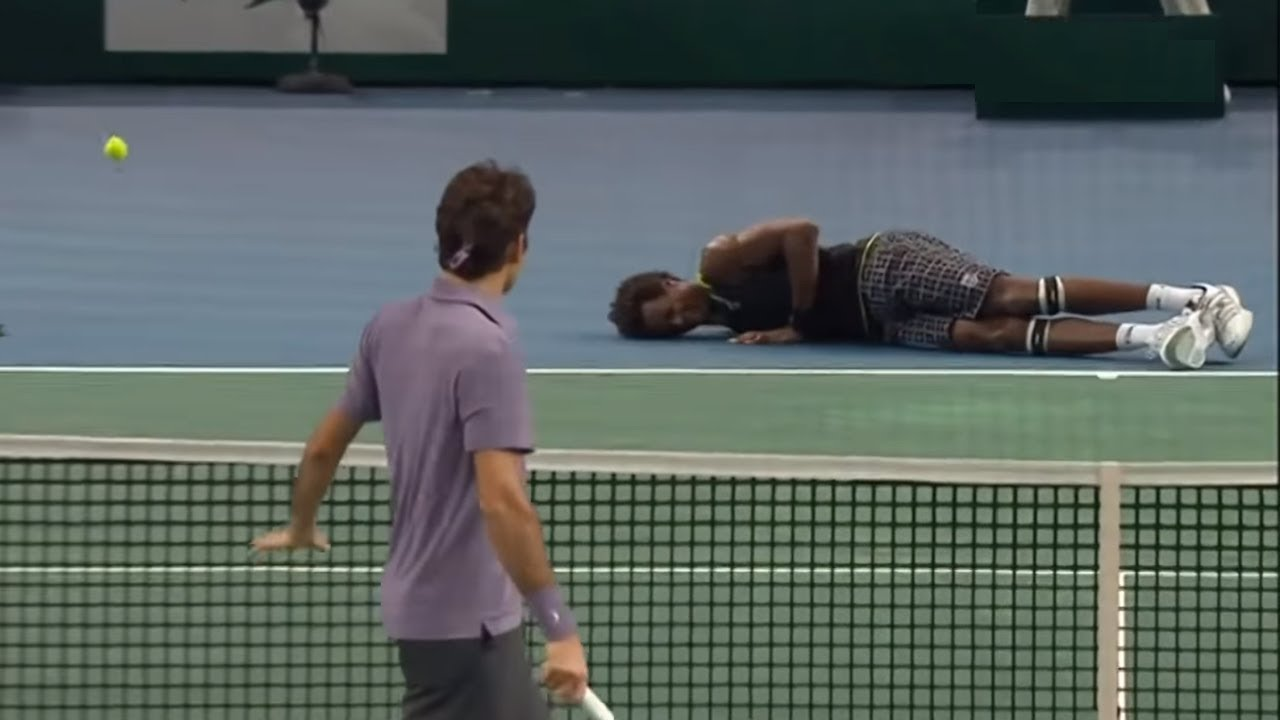 Roger Federer - DROPPING PLAYERS On The FLOOR (No Mercy)
