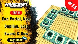 Download SkyBlock #14 - End Portal, New Sapling, Lost Everything - Minecraft PE | in Hindi | BlackClue Gaming Video