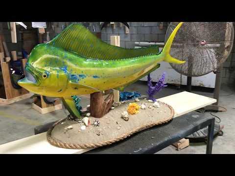 Dolphinfish Gray Fishmounts, Custom fish reproductions