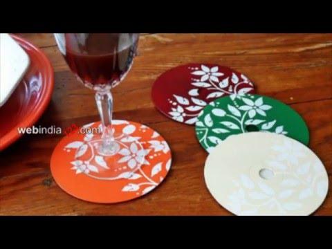 CD Beverage Coaster   CD Table Mats   Webindia123.com