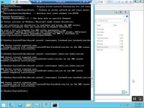 DNS Server BACKUP and Restore via Command Line