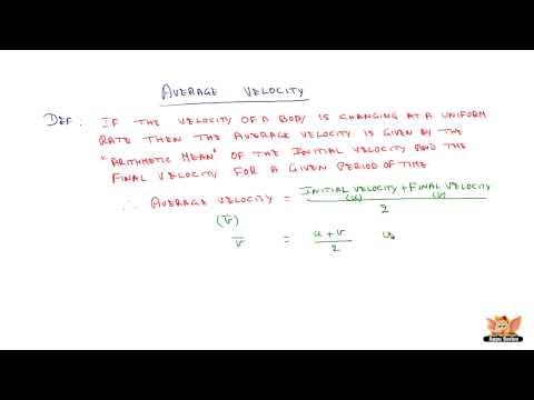 What is Average Velocity?