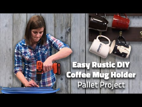 How to Create an Easy Rustic DIY Coffee Mug Holder from a Pallet (Tips from Tiff #9)