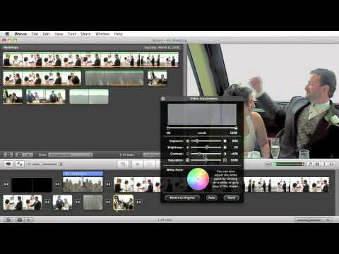 iMovie Tutorial: Image Adjustments