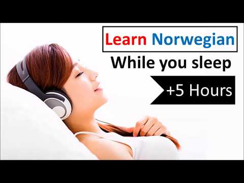 Learn Norwegian while you sleep 💬 5 hours 👍 1000 Basic Words and Phrases