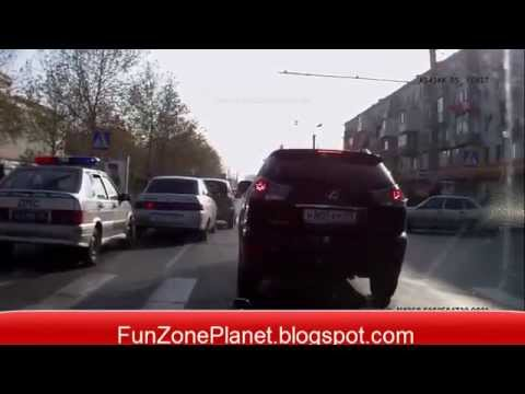 funny accedent on road
