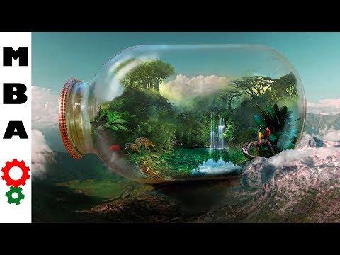 How to make a great eternal terrarium with a lake? Как сделать большой вечный террариум с озером?