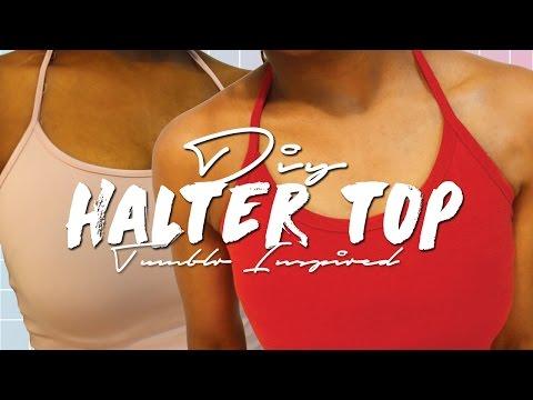 DIY HALTER TOP (NO-SEW) 2 MINS #DIYTUESDAYS