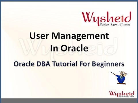 oracle user management | User creation and privilege management | password management in oracle