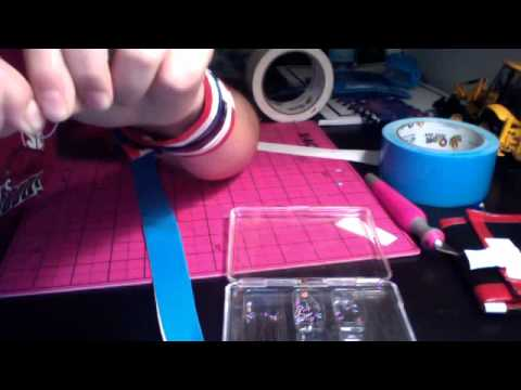how to make a duck tape dog coller