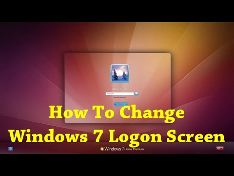 How To Change Windows 7 Logon Screen Background Using Registry?