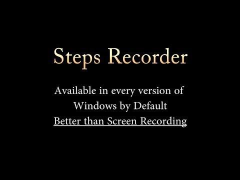 No ScreenRecorder? Steps Recoder to the rescue! [Windows] 😃