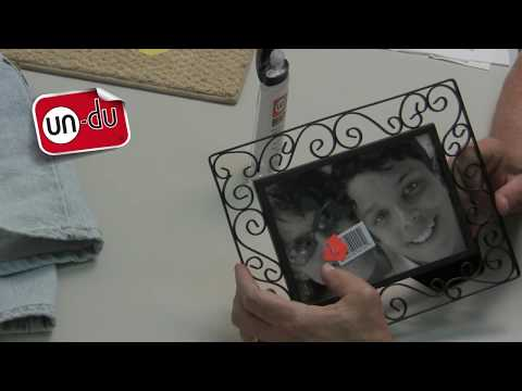 How to remove stickers from glass in a picture frame