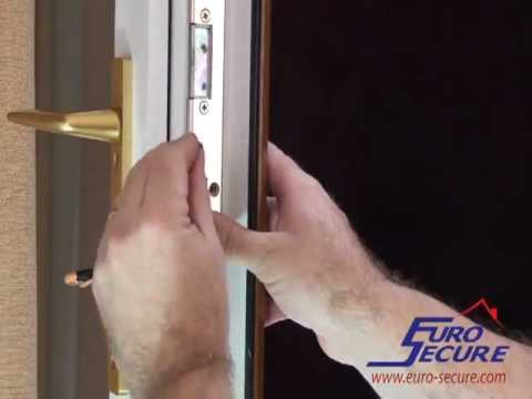 Fitting A euro cylinder in a French Door - Slave Door