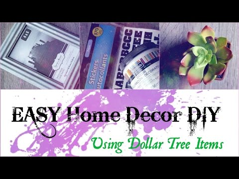 Easy & Creative Home Decor DIY!! Using Only Dollar Tree Items || 2017 Crafting Ideas