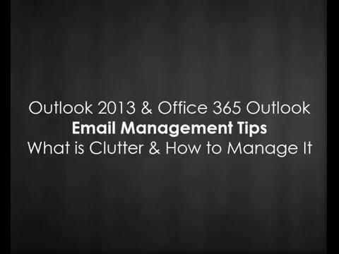 Microsoft Outlook Clutter 2016