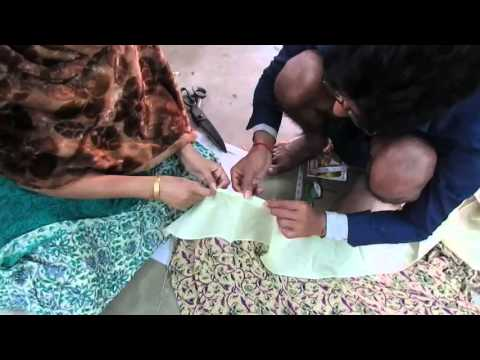 How to  Stitch Saree Falls Learn/Tutorial  part 2 of 3 hindi