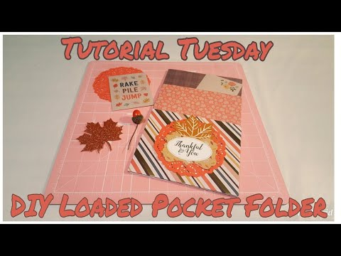 How to make a loaded pocket folder | Tutorial Tuesday | Planning With Eli