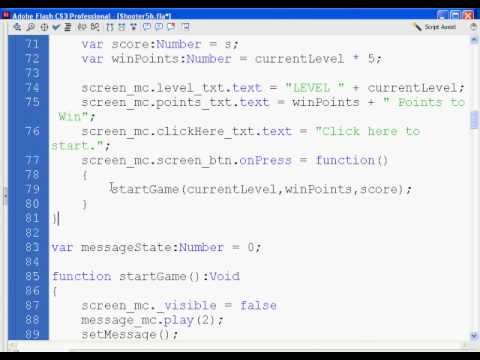 Flash Shooter Game 19 - Actionscript 2.0