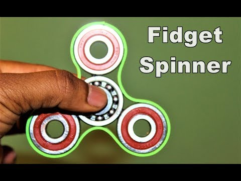 How To Make A Fidget Spinner using Bearing