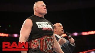 Paul Heyman provokes a fight between Braun Strowman and Brock Lesnar: Raw, Sept. 11, 2017