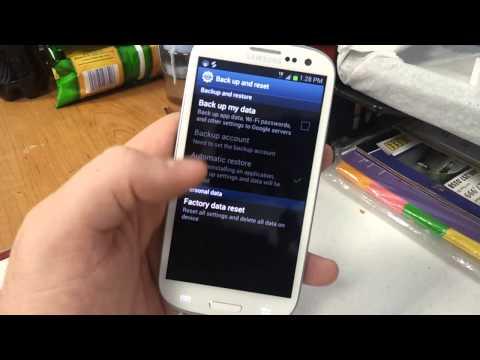 Factory Reset Samsung Galaxy s3 Metro PCS